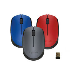Logitech M170 2.4G Wireless Mouse for PC LAPTOP MAC---Gray Red Blue