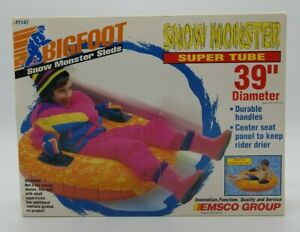 "EMSCO Bigfoot Snow Monster Super Tube 39"" Diameter Durable Handles New in Box"