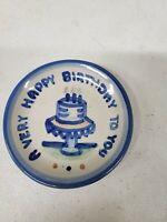 "M.A. Hadley A Very Happy Birthday To You 4.25"" Coaster Plate (dd) (e322)"