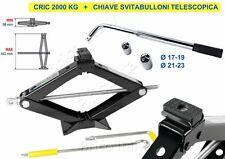 Cric crik a pantografo 2000 kg 98>442 mm + svitabulloni 17/19/21/23 CAMBIO GOMMA