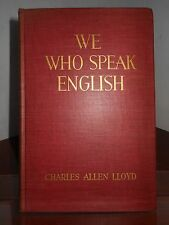 WE WHO SPEAK ENGLISH 1938