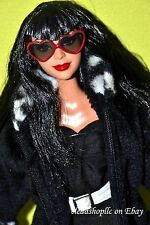 GORGEOUS RARE BLACK HAIR STARDOLL BY BARBIE DOLL BLACK HAIR RED LIPS