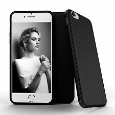 "iPhone 6S, 6 4.7"" Black Luxury Carbon Fiber Soft Quality Ultra Slim Case Cover"