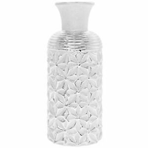 Lesser & Pavey 25.5cm Silver Art Vase Display Ornament Decor Tabletop Flower