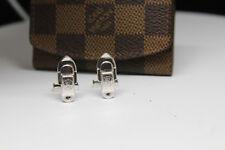 Louis Vuitton AG 925 Sterling Silver Cufflinks w/ Pouch