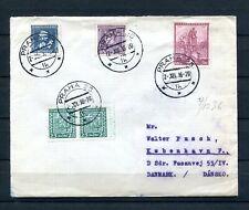 1938.CHECOSLOVAQUIA. Československo.carta Postale a Danimarca