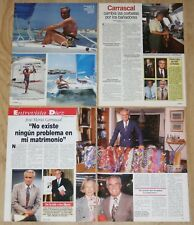 JOSE MARIA CARRASCAL lote prensa 1990s clippings spain presentador TV periodista