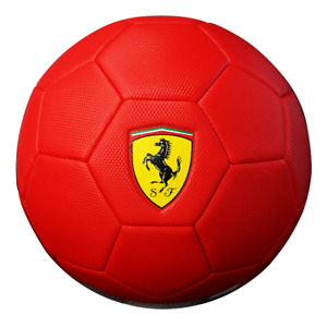 FERRARI Size 4 MACHINE SEWN SOCCER BALL - RED