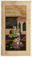 Indian Erotic Painting Mughal Islamic Art On Old Paper View Of Mughal Empire