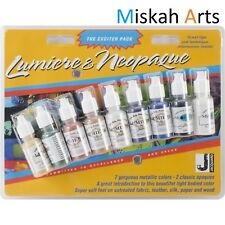 JACQUARD LUMIERE & NEOPAQUE Metallic Paints -14ml X 9 BOTTLES - THE EXCITER PACK