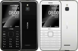 "Nokia 8000 4G Dual SIM 2.8"" Black Whtie Snapdragon 210 FM radio USA Freeship"