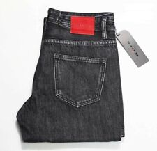 Kiton Jeans Luxury Cotton Washed Denim Jeans  Red Tag Sz 32x32 Black/Gray