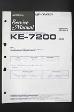 Pioneer ke-7200 Car Cassette Fm/Am Tuner Additional Service Manual/Wiring