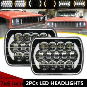 5x7 6x7''inch LED Headlight DRL H4 Bulbs Hi-low Beam For Freightliner FL50 Truck