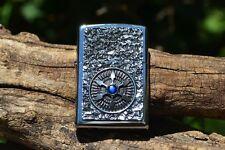 Zippo Lighter - Star Blue Center - Compass - Mariner's - European - 2.005.035