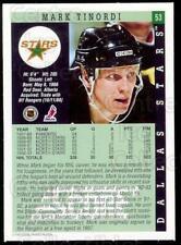 1993-94 Dallas Stars Score Team Issue #53 Mark Tinordi