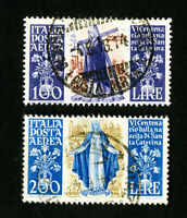 Italy Stamps # C127-8 VF Used Catalog Value $64.00