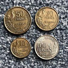Frankreich/France Lot/Collection 4. Republik 10, 20, 50, 100 Francs
