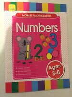 CHILDREN'S LEARNING -  HOME WORKBOOK    NUMBERS   AGE 3-6   40 PAGE BOOKLET
