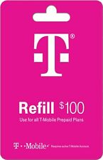 T-Mobile  Prepaid $100 Refill Top-Up Prepaid Card