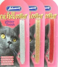 NEW JOHNSONS SPARKLING GLITTER CAT FLEA COLLAR 4 MONTH PROTECTION