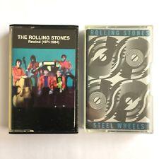 THE ROLLING STONES x2 - STEEL WHEELS & REWIND (1971-1984) - Cassettes