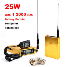 25W ham amateur radio transceiver with 12000 mAh battery built-in Dual-PTT Mic