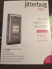 Jitterbug - Flip Easy-to-Use 4G Prepaid Cell Phone - Graphite (GreatCall)