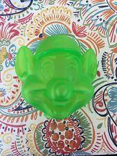 Rare Chuck E Cheese Coin Bank Penny Bank Transparent Green Head
