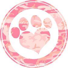 30 Custom Pink Camo Paw Print Art Personalized Address Labels