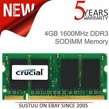 Crucial 4GB DDR3 PC3L-12800 Unbuffered NON-ECC Memory│204 Pin SODIMM RAM│1600MHz