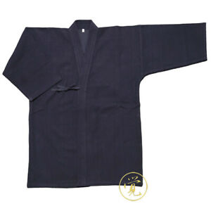 Japanese Kendo Kimono Iaido Aikido Martial Art Keikogi Hakama Blue Coat Tops