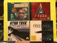 Used ~ Sci-Fi Strategy  PC Video Game Lot of 4 (Star Trek, Free Space, and More)