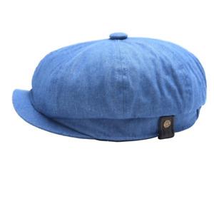 Women Cowboy Octagonal Newsboy Cap Cabbie Flat Hat Vintage Painter Beret Hats