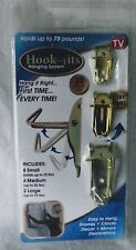Hook Its Hanging System Hang Wall Pictures Frames Clocks Mirrors 32 Hooks NEW TV