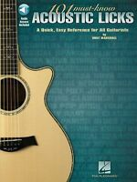Wolf Marshall 101 Must Know Acoustic Licks Learn GUITAR MUSIC BOOK ONLINE AUDIO