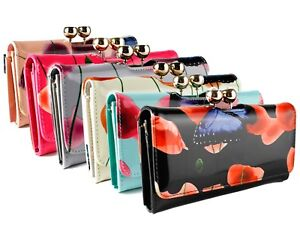 Innovative Diamante Patent Floral Wallet Purse Wallet Ladies Card Coin Holder