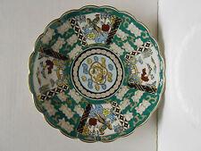 "Vtg  Japanese Oriental Plate Bird Hand Painted 12"" Gold Imari Porcelain"