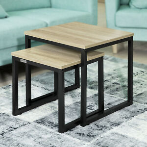 SoBuy Nesting Tables Coffee Tables Side Tables Set of 2 FBT42-N