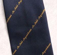 Mackinlays Finest VECCHIO WHISKY SCOZZESE Cravatta Vintage Retrò Blu Scuro 1970s 1980s Company