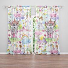 Princess Window Curtains Girly Drapery Curtain Panels unicorn window dragon