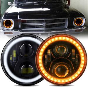 2x 7'' LED Headlights w/DRL For Holden HJ HK HT HG HP HQ HX HZ Kingswood Monaro
