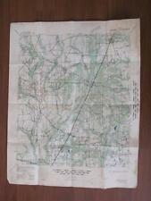 Vintage 1941 OAKDALE Quandrangle LOUSIANA US Army War Department Eng Corps Map