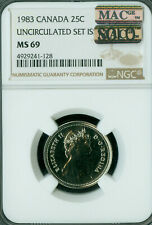 1983 CANADA 25 CENTS NGC MS69 PQ MAC SOLO FINEST GRADE SPOTLESS *