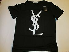 Yves Saint Laurent men's black t-shirt YSL size L 50