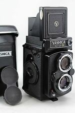 Yashica Mat-124 G black vintage TLR 6x6 camera, lens Yashinon 3,5/80. Beautiful!