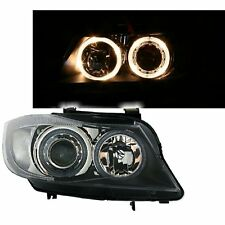 2 PHARES ANGEL EYES BMW SERIE 3 E90 BERLINE TOURING 5/2005-8/2008 CLIGNO BLANC
