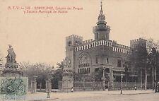 Barcelona 1912 über den del parque y escuela mun. de musica españa Espana 605209