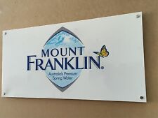 custom white/opaque business Acrylic sign with hanging studs