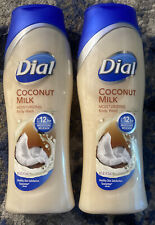Lot of 2 Dial Coconut Milk Body Wash - 12 Hour Moisture Release 16 oz Each